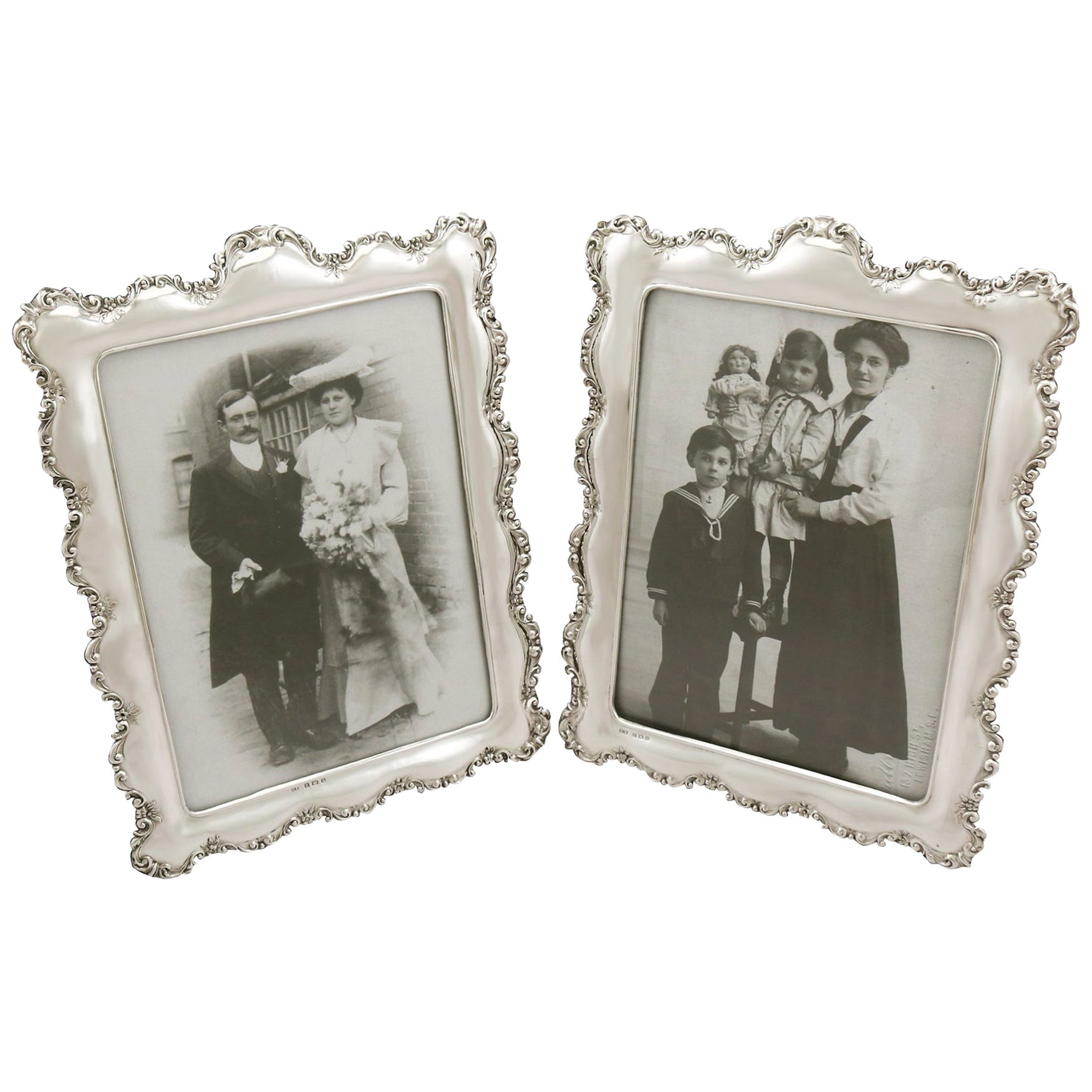 Antique Edwardian Sterling Silver Photograph Frames by Henry Matthews