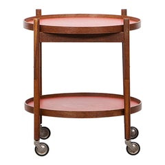 1950s Teak and Laminate Serving Cart by Hans Bolling