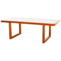 1960s Coffee Table in Amendoim Wood, Attributed to Joaquim Tenreiro, Brazil