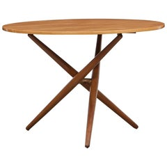 1950s Brown Wooden Eat and Tea Table by Jürg Bally 'm'