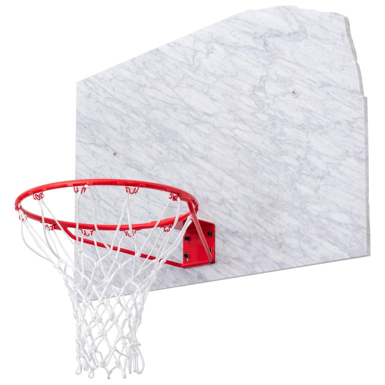 Basketball Pot and Backboard with Italian Marble, by Guillermo Santoma For Sale