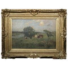 Pastoral Landscape by Bertram Priestman (1868-1951) British R.A. R.O.I. N.E.A.C.