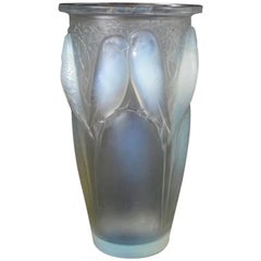 Rene Lalique Opalescent Glass 'Ceylan' Vase