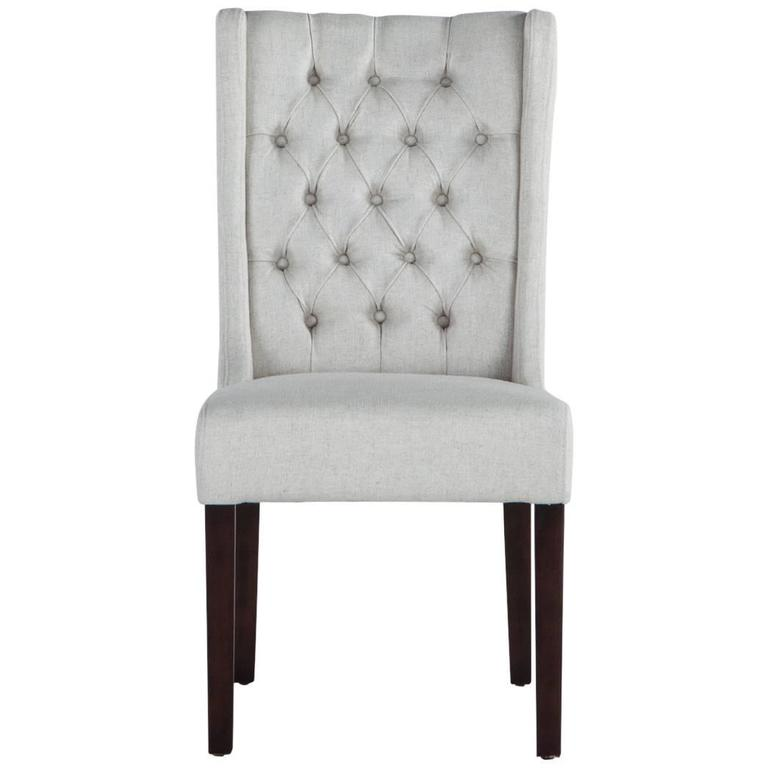 Tufted Linen Chair For Sale At 1stdibs
