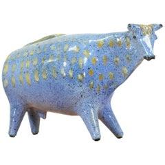 Midcentury Ceramic Bull Sculpture by Alfaraz