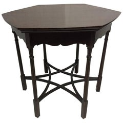 Arts & Crafts Flame Mahogany Center / Side Table in the Style of Charles Spooner