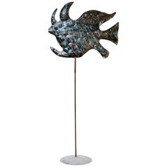 20th Century Iron Sculpture of a Fish