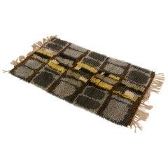 Midcentury Scandinavian Long Pile Rya Rug