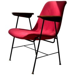 Carlo Hauner for Moveis Artesanal/Forma, Armchair with Iron Structure