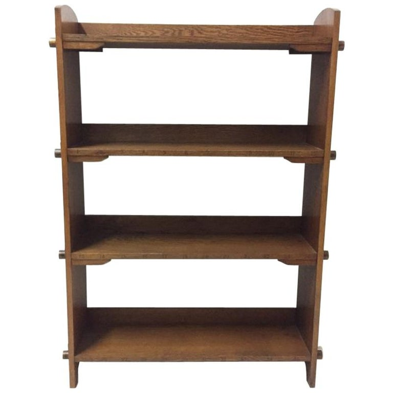 Wylie & Lochhead Attributed an Arts & Crafts Oak Bookcase For Sale