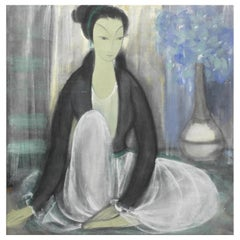 Contemplation, After Ming Dynasty Style Painting, Chinese Export