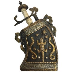 Moroccan Antique Tribal Gun Powder Case Flask