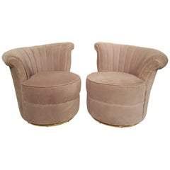 Pair of Deco Style Swivel Chairs