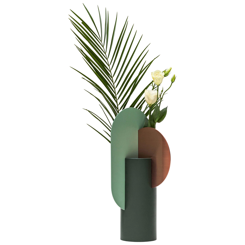 Modern Metal Vase Yermilov CS1 by NOOM in Copper and Steel