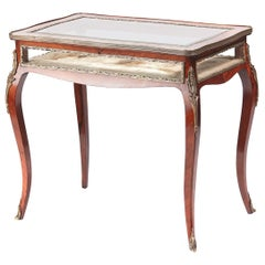 Quality French Rosewood and Gilt Brass Mounted Bijouterie Cabinet