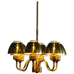 Beautiful Golden Chandelier by Hans-Agne Jakobsson, 1960s