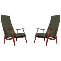Pair of Mid-Century Modern Italian Armchairs