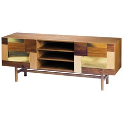 Sideboard Form in Wood and Brass