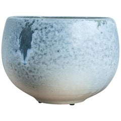 One Off Small Vase White and Soft Blue Glaze