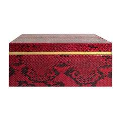 Flair Home Collection Small Red Python Box