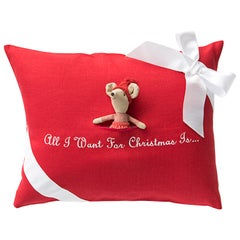 All i Want for Christmas Pillow by Julia B.
