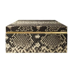 Flair Home Collection Square Natural Python Box