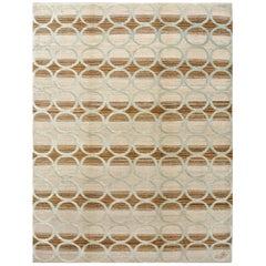 """Orley Shabahang Signature """"Circles"""" Handmade, Contemporary Carpet"""