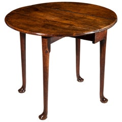 English Provincial 18th Century Georgian Small Red Walnut Table