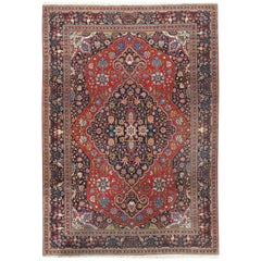 Vintage Persian Tabriz Carpet Rug
