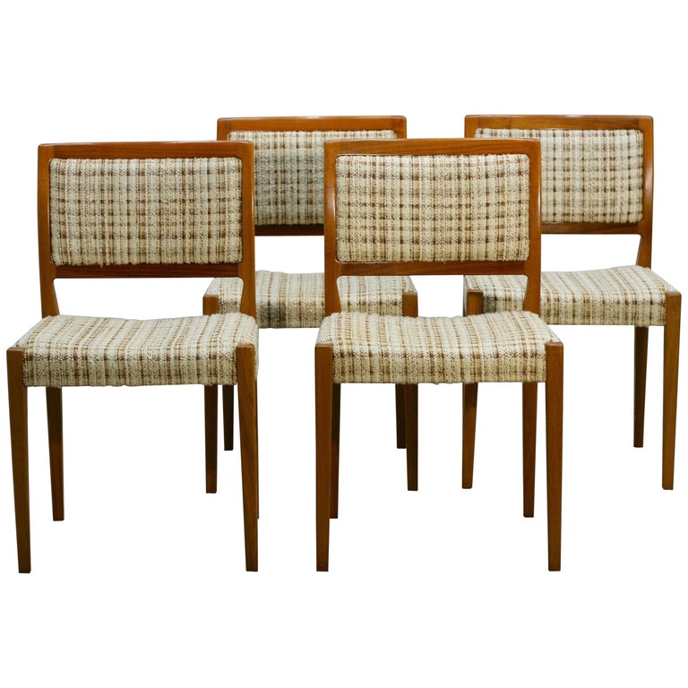 Set of Four Midcentury Swedish Teak Dining Chairs from Troeds, 1960s For Sale