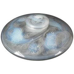 Rene Lalique Opalescent Glass 'Mures' Inkwell