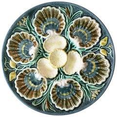 Majolica Oyster Plate Rostrand, circa 1880