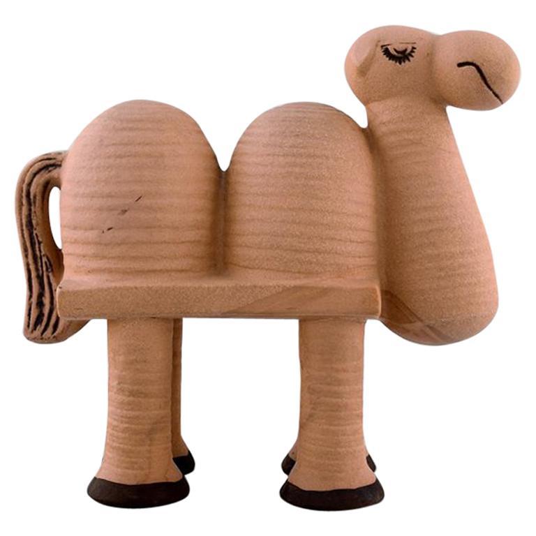 "Lisa Larson Gustavsberg Camel in Ceramics, from the Series ""Jura"" For Sale"