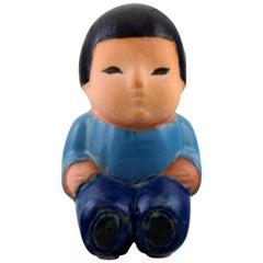 """Lisa Larson for Gustavsberg, Stoneware Figure from """"All the world's children."""""""