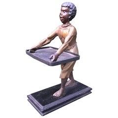 Antique Victorian Era Moorish Sculpture & Exotic Style Table Card Holder / Stand