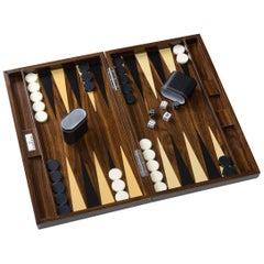 Wood Grain Lacquer Backgammon Set