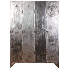 Vintage Industrial French Metal Lockers