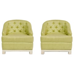 Pair of Kelly Wearstler Hollywood Regency Club Chairs