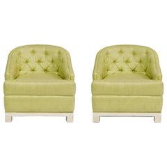 Pair of Kelly Wearstler Hollywood Regency Club Chairs