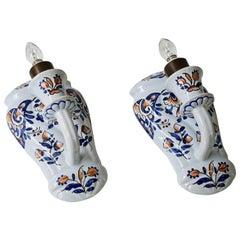 Pair of Porcelain Flower Scones