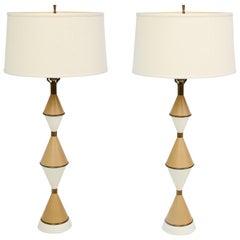 Gerald Thurston Style Mid-Century Modern Sculptural Lamps
