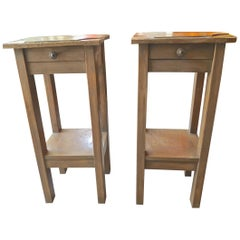 2 French xix Nightstands with One Drawer