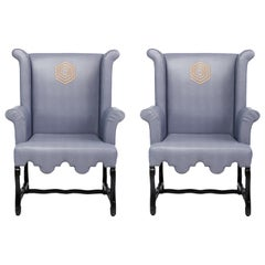 Custom Wingback Chairs by Kelly Wearstler Designed for the Viceroy Miami