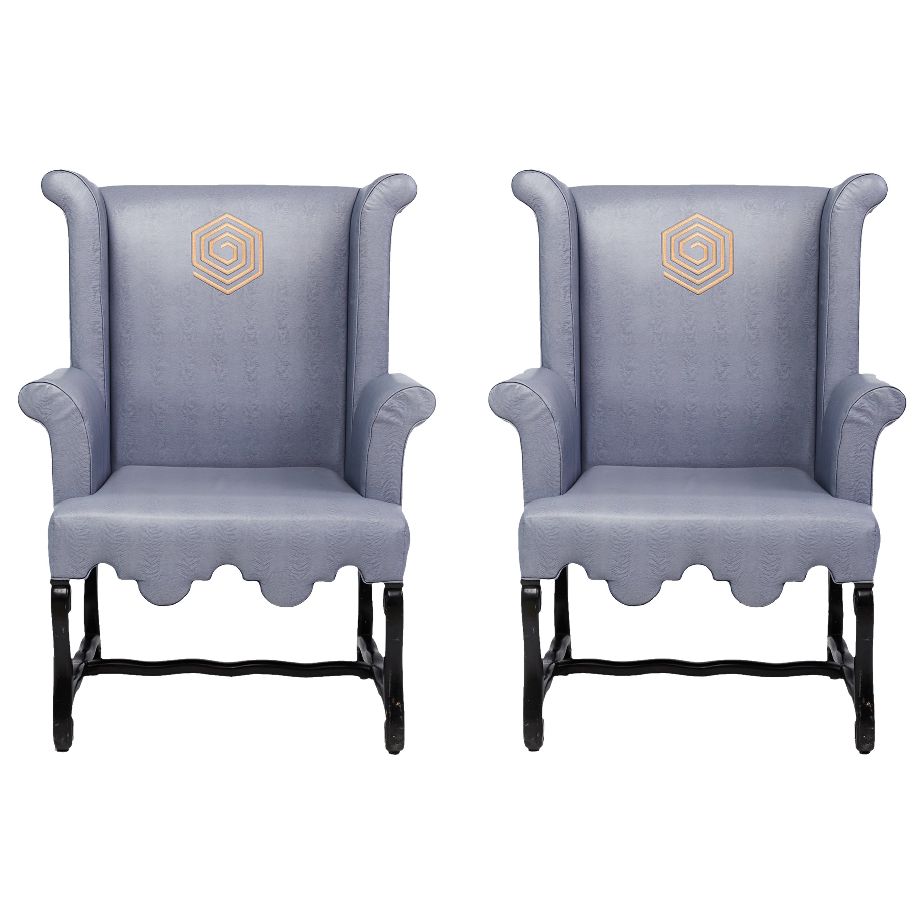 Custom Wingback Chairs By Kelly Wearstler Designed For The Viceroy Miami At 1stdibs