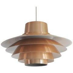 Verona Copper Pendant by Sven Middelboe for Nordisk Solar, 1970s