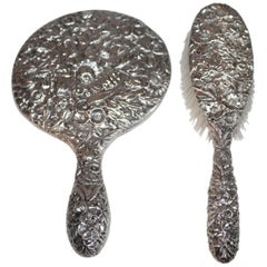 Sterling Silver S. Kirk & Son Brush and Mirror Set