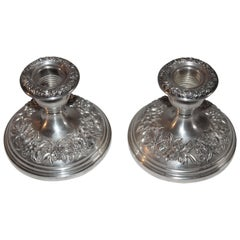 Sterling Silver Weighted Kirk & Sons Candle Stick Holders / Pair