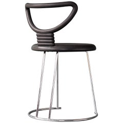 "Postmodern ""Nardis"" Side Chair by Nobu Tanigawa for Fasem"