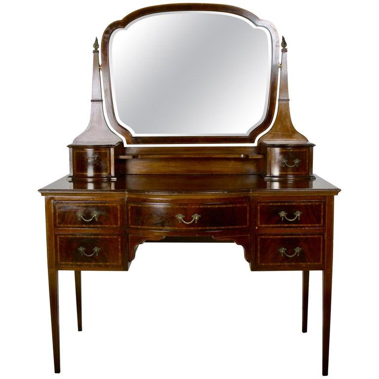 English Edwardian Mahogany Vanity