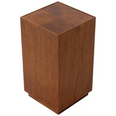 Parquetry Top Walnut Square Pedestal Stand